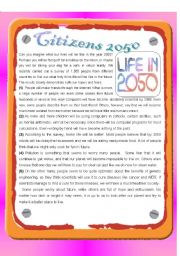 English Worksheets: RC : Citizens 2050