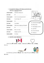 English teaching worksheets: Dialogues