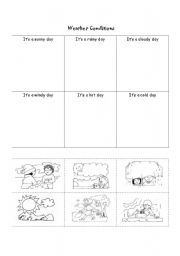 english teaching worksheets weather conditions. Black Bedroom Furniture Sets. Home Design Ideas