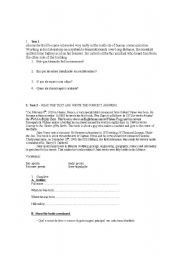 English Worksheets: READINGS 1