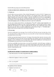 English Worksheets: Reading comprehension exercise