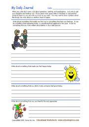 English Worksheets: journal