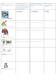 English Worksheets: animals and their habitats part 1