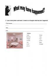 English Worksheets: Detective investigation part1