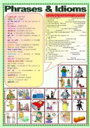 English Worksheets: Phrases & Idioms