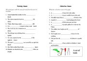 English Worksheets: Forming Nouns and collectives