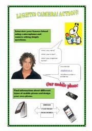 English Worksheets: Lights, camera, action!