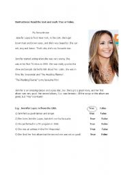 English Worksheets: My favourite star