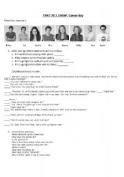 English worksheet: That 70´s show - Career Day