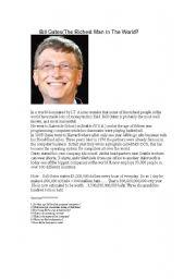 Bill Gates (The Richest Man In The World?)