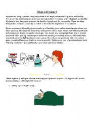 English Worksheet: My Hygiene