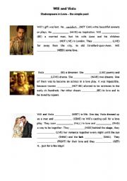 English Worksheets: Shakespeare in Love - The Simple Past