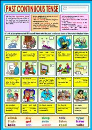 English Worksheets: Past Continuous Tense + KEY