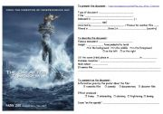 English Worksheets: The Day after Tomorrow : how to describe and  comment a film poster
