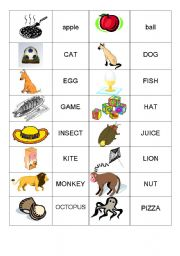 English Worksheets: Alphabet_ Memory game-Part1