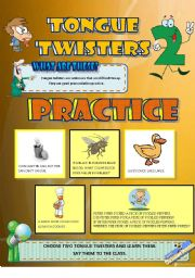 English Worksheet: Tongue Twisters Pt. 2