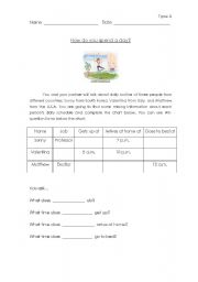 English Worksheets: info gap activity ( movie)