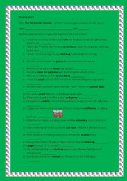 English Worksheets: The Wednesday Surpriese - activity worksheet