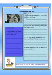 English Worksheet: Facebook Manners