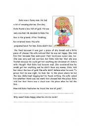 English Worksheets: the clever man