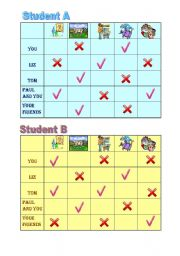 English Worksheet: Yes/No questions and short answers pairwork sheet 1