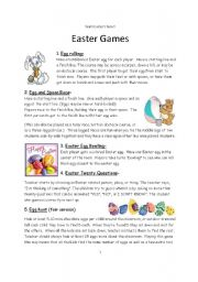 English Worksheet: ESL Games for Easter