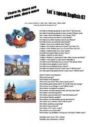 English Worksheet: Revision series 07 - There is there are there was there were