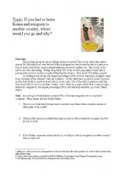 English Worksheet: Emigration