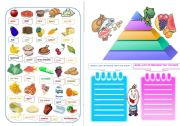 English Worksheet: THE PYRAMID OF FOOD  PART 3  THE PICTIONARY