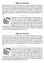 English Worksheets: Conjunctions - story