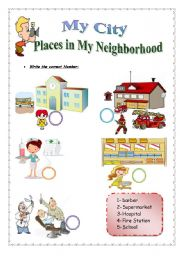 Goods and services worksheet first grade