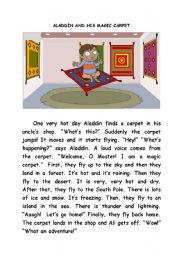 ALADDIN AND HIS MAGIC CARPET
