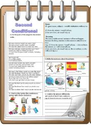 English Worksheet: Second Conditional-communicative approach