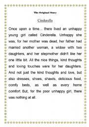 English Worksheet: Mad libs / Cindrella