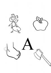English Worksheets: Letter A