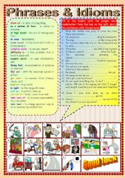 English Worksheets: Phrases & Idioms (Part 2)