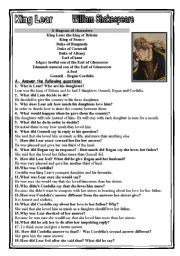 English Worksheets: king lear