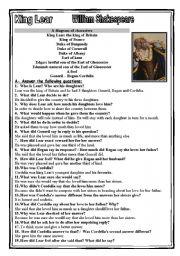English Worksheets: king lear