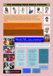 English Worksheets: The Andong Mask Dance Festival