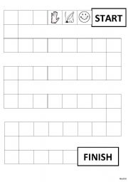 English Worksheet: Charades Game Board