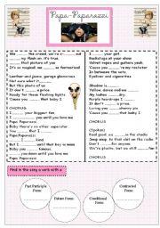 English Worksheets: Paparazzi - Lady Gaga