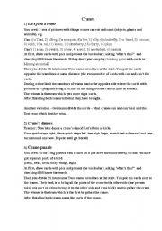 English Worksheets: Cranes