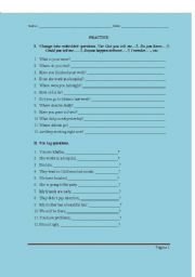English Worksheets: Tag and embedded questions exercises