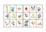 English Worksheets: BINGO BODY PARTS 2 OF 3