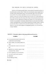 English Worksheets: rapid population growth