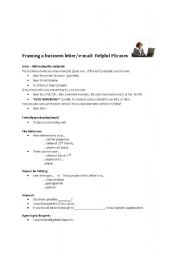 Business Letter/Email Writing