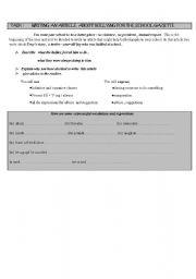 English worksheet: bullying- part 1