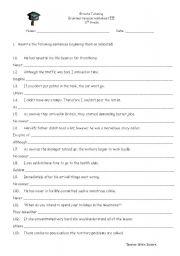 English Worksheets: Revision Worksheet 3