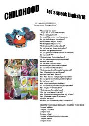 English Worksheets: Revision series 18 - Childhood