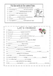 English Worksheet: Revision HAPPY STREET 2